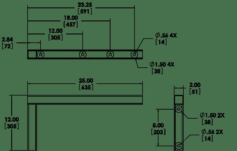 polestar-marine-support-arm-pm-sa-24-drawing