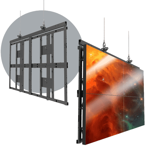 Video Wall Mounts & Rigging - Flyable LCD LED Video Walls