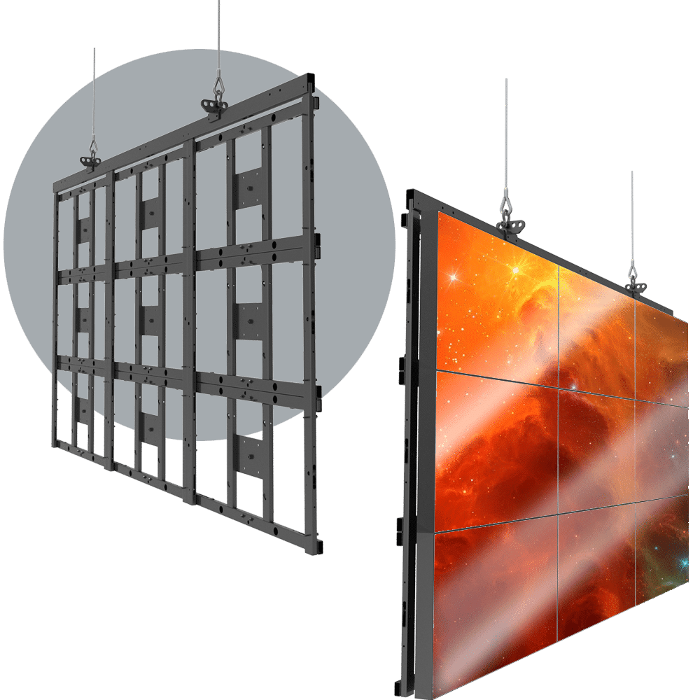 HoverGrid™ 3X3Flyable 3X3 Landscape Video Wall Frame System