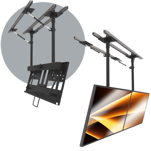 Video Wall Mounts & Rigging - Ceiling Mounted Video Walls and Menu Boards