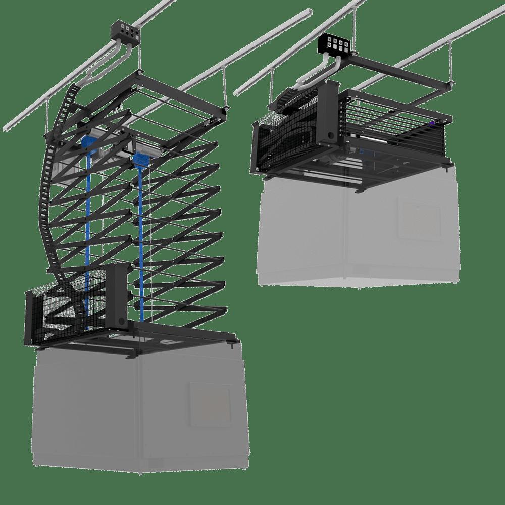 Boothless Projector Scissor Lift