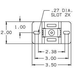the mm-008-cm is an indoor speaker mount that attaches loudspeakers,  weighing up to 15 lbs /7 kg , from ceilings, and other overhead structural  surfaces