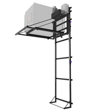 Rail guided projector wall lift